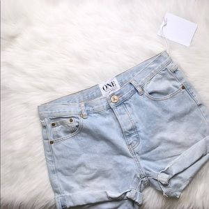 ONE TEASPOON HIGHWAIST BRANDO DENIM SHORTS SIZE 28